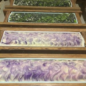 Clarity & Lavender in the Mould