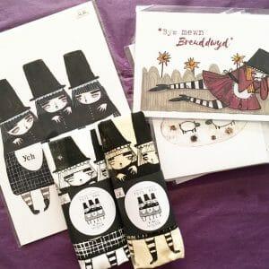 Twinkle & Gloom prints & bags
