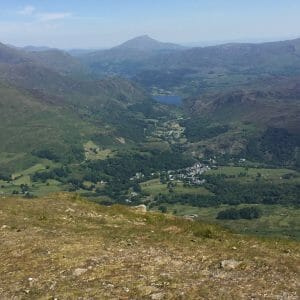 Beddgelert from the summit of Hebog