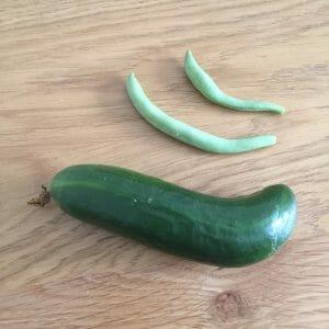 Cucumber & beans