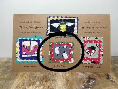 Beeswax Fabric Wraps - Sheep