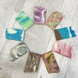 9 small soap samples